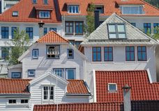 Houses in Bergen Royalty Free Stock Photos