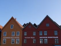 Houses in Bergen stock photography