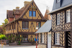 Houses in Beuvron-en-Auge Royalty Free Stock Photo