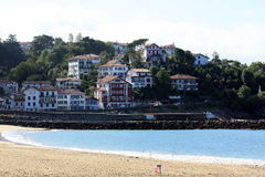 Houses in Biarritz royalty free stock photo