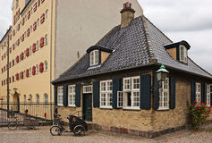 Houses and bikes. Houses and bikes of Copenhagen, Denmark Stock Photo