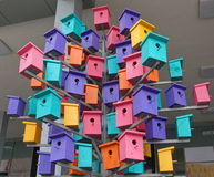Houses for birds Stock Photo