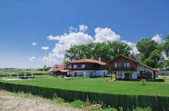 Houses on a Black Sea Beach, Shabla, Bulgaria Royalty Free Stock Images