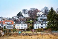 Houses of Blankenese, Hamburg, Germany Royalty Free Stock Photography