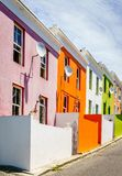 Houses in Bo-Kaap in Cape Town royalty free stock image