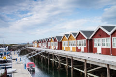 Houses for boat servicing in Northern Norway Stock Images