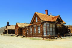 Houses on Bodie`s Main Street, Bodie State Historic Site, California Royalty Free Stock Photos