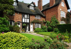 Houses in Bournville Village, Birmingham, UK Stock Images