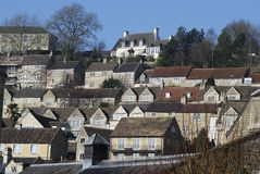 Houses at Bradford on Avon. UK Royalty Free Stock Photography