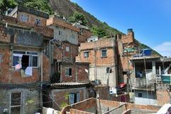 Houses of Brazilian favela  in Rio de Janeiro Stock Images