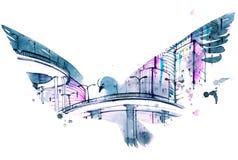 Modern city royalty free illustration
