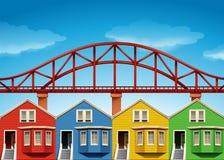 Houses and bridge of San Franscisco Royalty Free Stock Photo