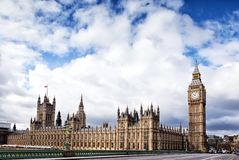 Houses of the British Parliament. And Big Ben Stock Image
