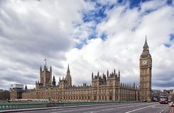 Houses of the British Parliament and Big Ben Royalty Free Stock Photo