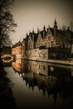 Houses in Bruges, Belgium Royalty Free Stock Photos