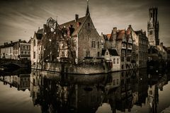 Houses in Bruges, Belgium Stock Photos