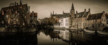 Houses in Bruges, Belgium Stock Photography