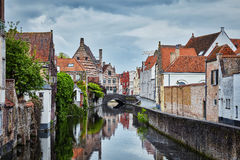 Houses in Bruges Brugge, Belgium Royalty Free Stock Photos