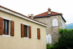 Houses in Budva Royalty Free Stock Images