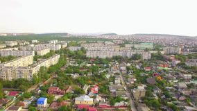 Houses And Buildings In Greenery Of Small Town stock video footage