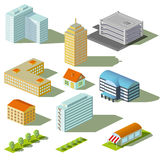 Houses and buildings stock illustration