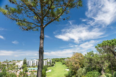 Houses and buildings in Wolf Valley (Vale do Lobo), Algarve Royalty Free Stock Photo
