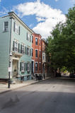 Houses in Bunker Hill, Charlestown, Boston Royalty Free Stock Photography