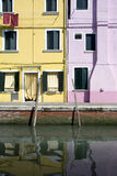 Houses in Burano Island Royalty Free Stock Images