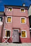 Houses in Burano Island Stock Photos