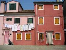 Houses on Burano Island, near Venice, Italy Stock Photo
