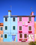 Houses of Burano, Venice lagoon Stock Image