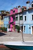 Houses on Burano, Venice Stock Photography