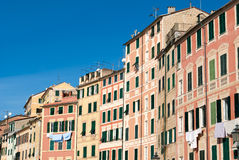 Houses in Camogli Royalty Free Stock Photos