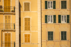 Houses in Camogli Stock Images
