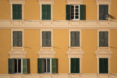 Houses in Camogli Stock Photos