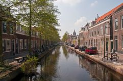 Houses and Canal . Stock Photos