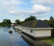 Houses by a canal Royalty Free Stock Photography