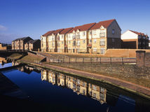 Houses by canal Royalty Free Stock Images