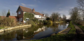 Houses by canal Royalty Free Stock Photo