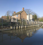 Houses by canal Stock Photography