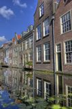 Houses on a canal in Delft royalty free stock image