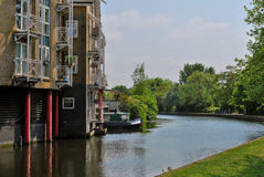 Houses at canal in London Royalty Free Stock Images
