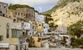 Houses in Capri town, Italy royalty free stock photos