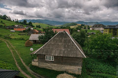 Houses in the Carpathian mountains. Royalty Free Stock Photos
