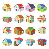 Houses cartoon icons set Royalty Free Stock Photos