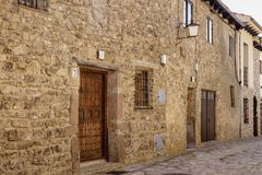 Houses of Castilian style in Medinaceli royalty free stock images