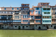 Houses in Castres, France Royalty Free Stock Photo