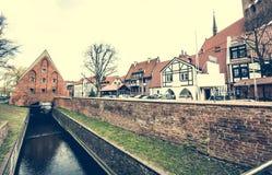Houses in cener of Gdansk Stock Photos