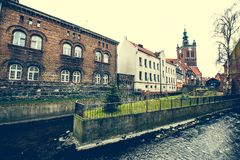 Houses in cener of Gdansk Royalty Free Stock Photo