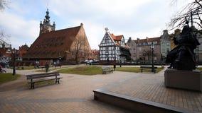 Houses in cener of Gdansk stock video footage